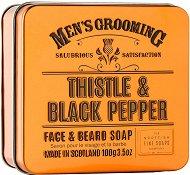 Scottish Fine Soaps Men's Grooming Thistle & Black Pepper Face & Beard Soap -