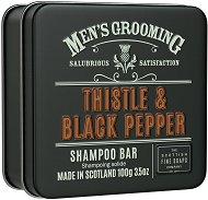 Scottish Fine Soaps Men's Grooming Thistle & Black Pepper Shampoo Bar -