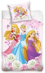 Детски двулицев спален комплект от 2 части - Принцесите на Дисни -