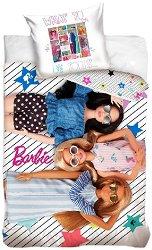 Детски двулицев спален комплект от 2 части - Барби -