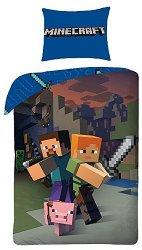 Детски двулицев спален комплект от 2 части - Minecraft -