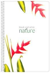 Ученическа тетрадка със спирала - Nature Формат А4 с широки редове -