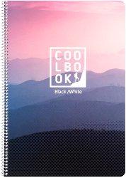 Ученическа тетрадка със спирала - Cool Book Формат А4 с широки редове -