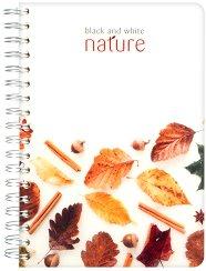 Ученическа тетрадка със спирала - Nature Формат B5 с широки редове -