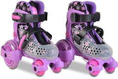 Регулируеми ролкови кънки - Little Beetle: Violet Girl -