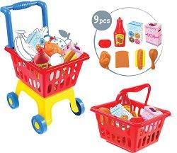 Пазарска количка с кошница -