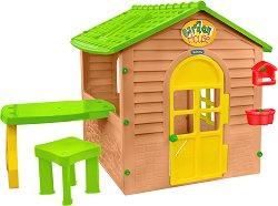Детска сглобяема къща с маса и столче -