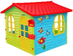 Детска сглобяема къща с дъска за рисуване -