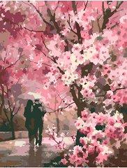 Рисуване по номера с акрилни бои - Романтична разходка