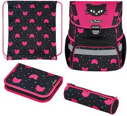 Ученическа раница - Loop Plus: Black Cat - раница