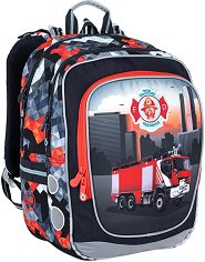 Ученическа раница - Endy: Firetruck - раница