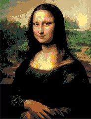 Рисуване по номера с акрилни бои - Мона Лиза: Леонардо да Винчи