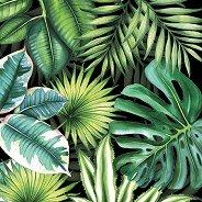 Салфетки за декупаж - Тропически листа