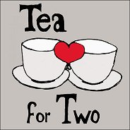 Салфетки за декупаж - Чай за двама