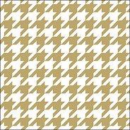 Салфетки за декупаж - Хаундстут принт в златисто и бяло