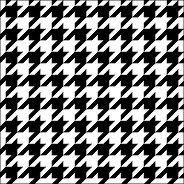 Салфетки за декупаж - Хаундстут принт в черно и бяло