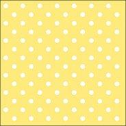 Салфетки за декупаж - Точки на жълт фон