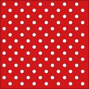 Салфетки за декупаж - Точки на червен фон