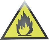 Самозалепваща пиктограма - Лесно запалимо вещество