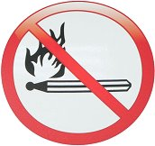 Самозалепваща пиктограма - Забранено паленето на огън
