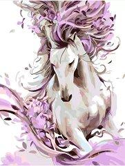 Рисуване по номера с акрилни бои - Красив кон