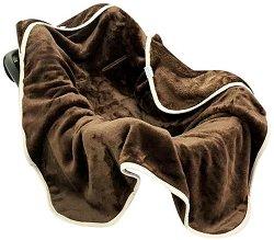 Бебешко микрофибърно одеяло за кошче за кола - Koala: Chocolate -