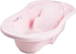 Анатомична бебешка вана за къпане с изход за оттичане -