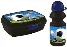 Комплект бутилка и кутия за храна - Football -