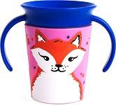 Неразливаща се преходна чаша с дръжки - WildLove: Fox 177 ml -