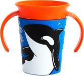 Неразливаща се преходна чаша с дръжки - WildLove: Orca 177 ml -