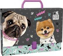 Кутия със закопчалка и дръжка - Кученца
