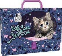Кутия със закопчалка и дръжка - Коте