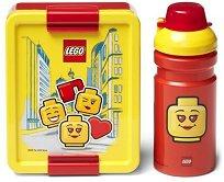 Комплект бутилка и кутия за храна - LEGO: Iconic - играчка