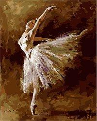 Рисуване по номера с акрилни бои - Балерина