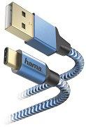 Кабел USB Type-C Male към USB Type-A Male - Reflective
