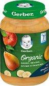 Nestle Gerber Organic - Био пюре от банан, ябълка, круша и праскова -