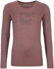 Дамска термо-блуза - 185 Merino Contrast LS