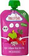 Fruchtbar - Био пюре с ябълки, ягоди, червено цвекло и ориз -