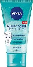 Nivea Purify Pores Daily Wash Scrub -