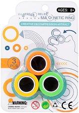 Многоцветни магнитни пръстени за трикове -