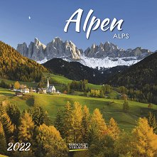 Стенен календар - Alpen 2022 -