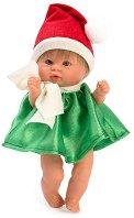 Кукла бебе - Чикита с костюм на коледен елф -