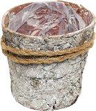 Дървена кашпа от кора - Лоли