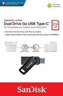 USB A / Type-C 3.2 флаш памет 256 GB - Dual Drive Go