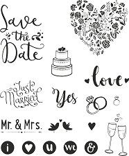 Силиконови печати - Wedding