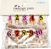 Декоративни дървени щипки - Numbers
