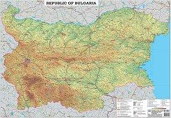 Стенна пътна карта на България на латиница - М 1:530 000 -