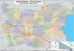 Стенна административна карта на България - М 1:530 000 -