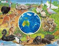 Животните на Австралия - Образователен пъзел в картонена подложка -