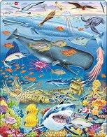 Морското дъно - Пъзел в картонена подложка - пъзел